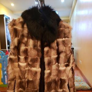 Real Fox Fur Vest Size M
